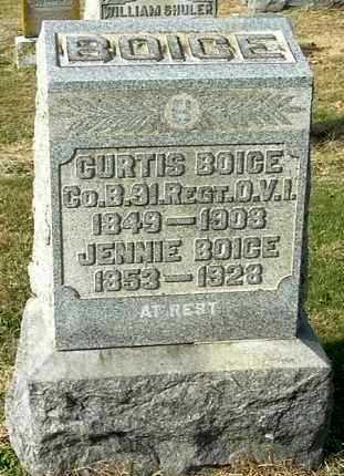 BOICE, JENNIE - Gallia County, Ohio | JENNIE BOICE - Ohio Gravestone Photos