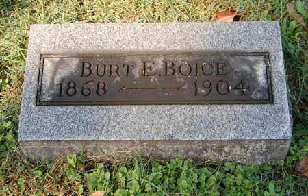 BOICE, BURT E - Gallia County, Ohio | BURT E BOICE - Ohio Gravestone Photos