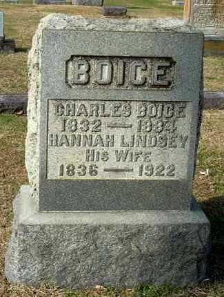 LINDSEY BOICE, HANNAH - Gallia County, Ohio | HANNAH LINDSEY BOICE - Ohio Gravestone Photos