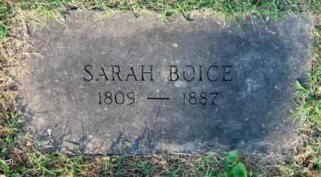 BOICE, SARAH - Gallia County, Ohio | SARAH BOICE - Ohio Gravestone Photos
