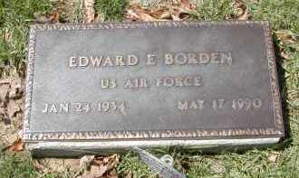 BORDEN, EDWARD E. - Gallia County, Ohio | EDWARD E. BORDEN - Ohio Gravestone Photos