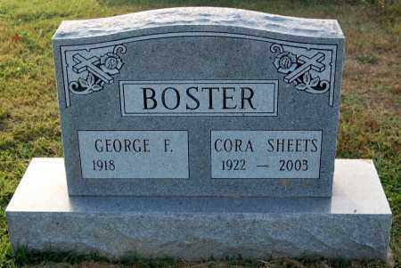 SHEETS BOSTER, CORA - Gallia County, Ohio | CORA SHEETS BOSTER - Ohio Gravestone Photos