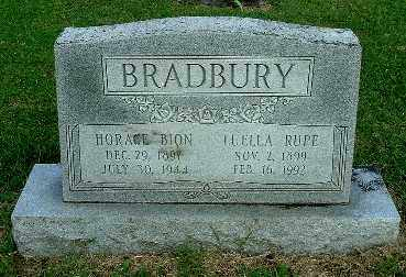 BRADBURY, HORACE BION - Gallia County, Ohio | HORACE BION BRADBURY - Ohio Gravestone Photos