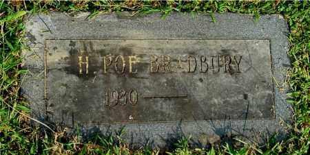 BRADBURY, H. POE - Gallia County, Ohio | H. POE BRADBURY - Ohio Gravestone Photos