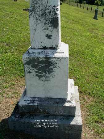 BRADBURY, JOSEPH - Gallia County, Ohio | JOSEPH BRADBURY - Ohio Gravestone Photos