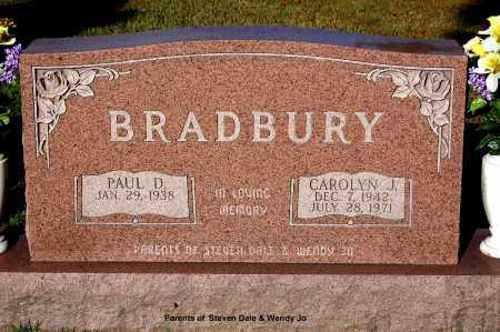BRADBURY, PAUL D. - Gallia County, Ohio | PAUL D. BRADBURY - Ohio Gravestone Photos