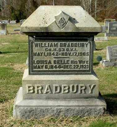 BRADBURY, LOUISA BELLE - Gallia County, Ohio | LOUISA BELLE BRADBURY - Ohio Gravestone Photos