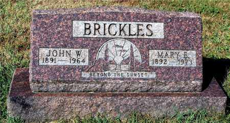 BRICKLES, JOHN W. - Gallia County, Ohio | JOHN W. BRICKLES - Ohio Gravestone Photos