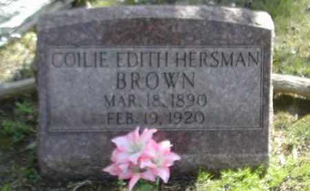 HERSMAN BROWN, COILIE - Gallia County, Ohio | COILIE HERSMAN BROWN - Ohio Gravestone Photos