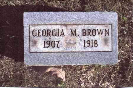 BROWN, GEORGIA M. - Gallia County, Ohio | GEORGIA M. BROWN - Ohio Gravestone Photos