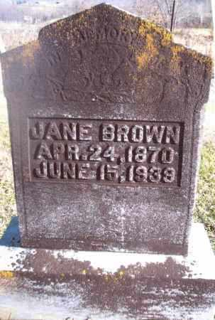 BROWN, JANE - Gallia County, Ohio | JANE BROWN - Ohio Gravestone Photos