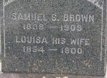 BROWN, SAMUEL S. - Gallia County, Ohio | SAMUEL S. BROWN - Ohio Gravestone Photos