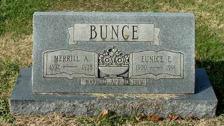 BUNCE, MERRILL A - Gallia County, Ohio | MERRILL A BUNCE - Ohio Gravestone Photos