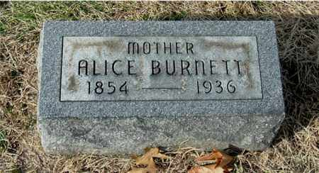 BURNETT, ALICE - Gallia County, Ohio | ALICE BURNETT - Ohio Gravestone Photos
