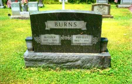 BURNS, PHYLLIS - Gallia County, Ohio | PHYLLIS BURNS - Ohio Gravestone Photos