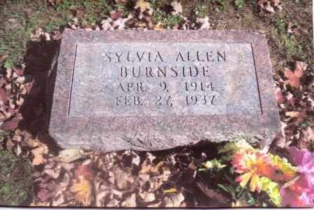 ALLEN BURNSIDE, SYLVIA - Gallia County, Ohio | SYLVIA ALLEN BURNSIDE - Ohio Gravestone Photos