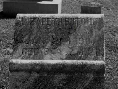 BUTCHER, ELIZABETH - Gallia County, Ohio | ELIZABETH BUTCHER - Ohio Gravestone Photos