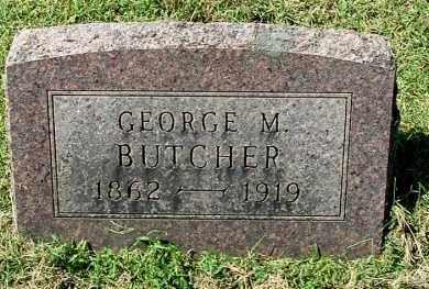 BUTCHER, GEORGE M - Gallia County, Ohio | GEORGE M BUTCHER - Ohio Gravestone Photos