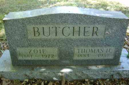 BUTCHER, ZOIE - Gallia County, Ohio | ZOIE BUTCHER - Ohio Gravestone Photos