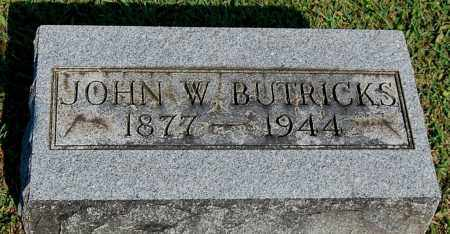 BUTRICKS, JOHN W - Gallia County, Ohio | JOHN W BUTRICKS - Ohio Gravestone Photos