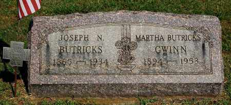 SCHWARTZ GWINN, MARTHA JOSEPHINE BUTRICKS - Gallia County, Ohio | MARTHA JOSEPHINE BUTRICKS SCHWARTZ GWINN - Ohio Gravestone Photos