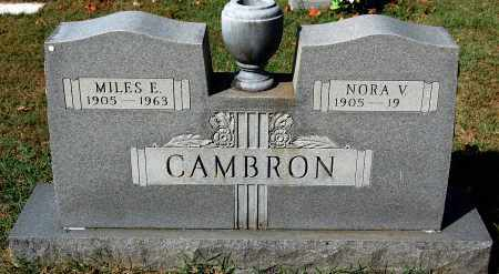 CAMBRON, NORA V. - Gallia County, Ohio | NORA V. CAMBRON - Ohio Gravestone Photos