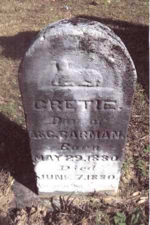 CARMAN, GERTIE - Gallia County, Ohio | GERTIE CARMAN - Ohio Gravestone Photos
