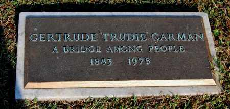 "CARMAN, GERTRUDE ""TRUDIE"" - Gallia County, Ohio | GERTRUDE ""TRUDIE"" CARMAN - Ohio Gravestone Photos"