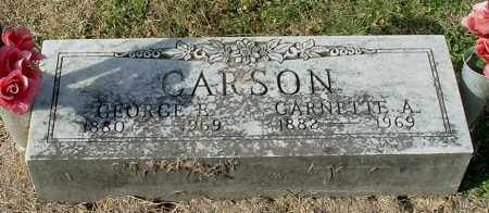 CARSON, GEORGE  E - Gallia County, Ohio | GEORGE  E CARSON - Ohio Gravestone Photos