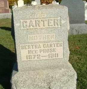 PROSE CARTER, BERTHA - Gallia County, Ohio | BERTHA PROSE CARTER - Ohio Gravestone Photos