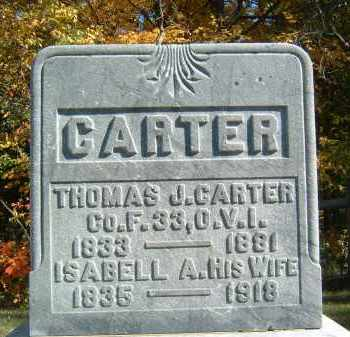 CARTER, THOMAS J - Gallia County, Ohio | THOMAS J CARTER - Ohio Gravestone Photos