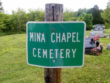 CEMETERY SIGN, MINA CHAPEL - Gallia County, Ohio | MINA CHAPEL CEMETERY SIGN - Ohio Gravestone Photos