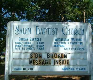 CHURCH SIGN, SALEM BAPTIST - Gallia County, Ohio | SALEM BAPTIST CHURCH SIGN - Ohio Gravestone Photos