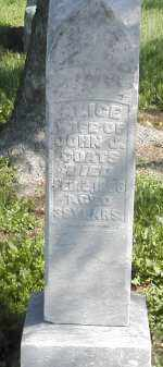 COATES, ALICE - Gallia County, Ohio | ALICE COATES - Ohio Gravestone Photos