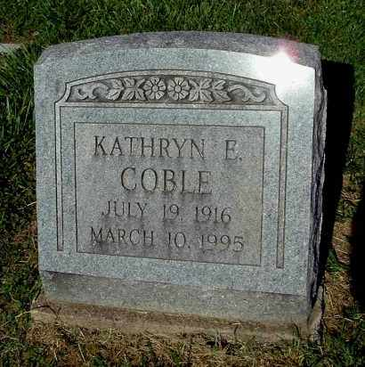 COBLE, KATHRYN E - Gallia County, Ohio | KATHRYN E COBLE - Ohio Gravestone Photos