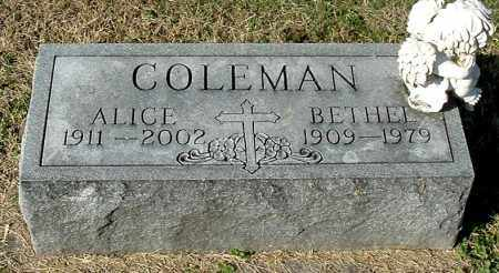 COLEMAN, ALICE - Gallia County, Ohio | ALICE COLEMAN - Ohio Gravestone Photos