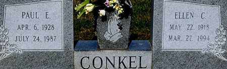 CONKEL, ELLEN C (CLOSE-UP) - Gallia County, Ohio | ELLEN C (CLOSE-UP) CONKEL - Ohio Gravestone Photos