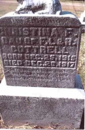 COTTRELL, CHRISTINA F. - Gallia County, Ohio | CHRISTINA F. COTTRELL - Ohio Gravestone Photos