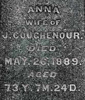 COUGHENOUR, ANNA (CLOSE-UP) - Gallia County, Ohio | ANNA (CLOSE-UP) COUGHENOUR - Ohio Gravestone Photos