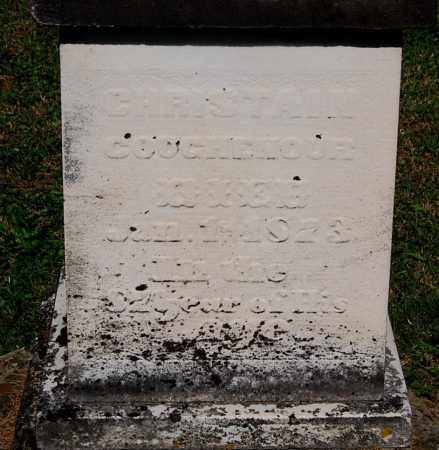 COUGHENOUR, CHRISTAIN (CLOSE-UP) - Gallia County, Ohio | CHRISTAIN (CLOSE-UP) COUGHENOUR - Ohio Gravestone Photos