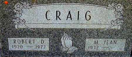 CRAIG, ROBERT D (CLOSE-UP) - Gallia County, Ohio | ROBERT D (CLOSE-UP) CRAIG - Ohio Gravestone Photos