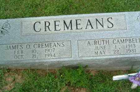 CREMEANS, JAMES O. - Gallia County, Ohio | JAMES O. CREMEANS - Ohio Gravestone Photos