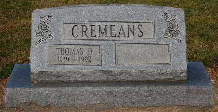 CREMEANS, THOMAS D - Gallia County, Ohio | THOMAS D CREMEANS - Ohio Gravestone Photos