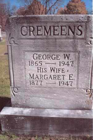 CREMEENS, MARGARET E. - Gallia County, Ohio | MARGARET E. CREMEENS - Ohio Gravestone Photos