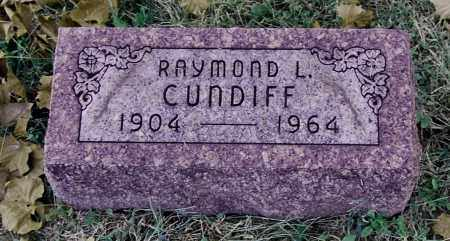 CUNDIFF, RAYMOND L - Gallia County, Ohio | RAYMOND L CUNDIFF - Ohio Gravestone Photos