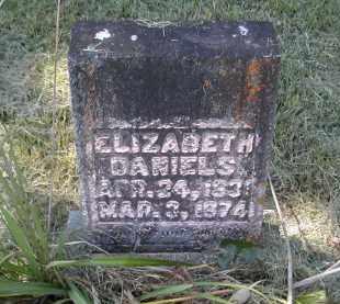 DANIELS, ELIZABETH - Gallia County, Ohio | ELIZABETH DANIELS - Ohio Gravestone Photos