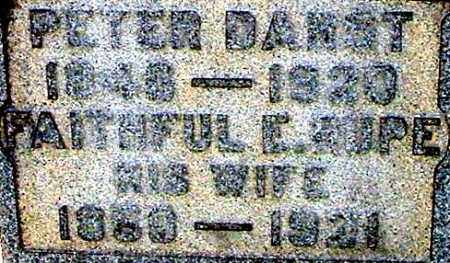 DARST, FAITHFUL E (CLOSE-UP) - Gallia County, Ohio | FAITHFUL E (CLOSE-UP) DARST - Ohio Gravestone Photos