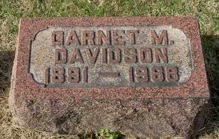 DAVIDSON, GARNET M - Gallia County, Ohio | GARNET M DAVIDSON - Ohio Gravestone Photos