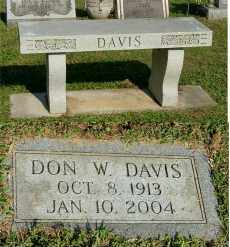 DAVIS, DON W - Gallia County, Ohio | DON W DAVIS - Ohio Gravestone Photos