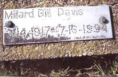 DAVIS, MILLARD BILL - Gallia County, Ohio | MILLARD BILL DAVIS - Ohio Gravestone Photos